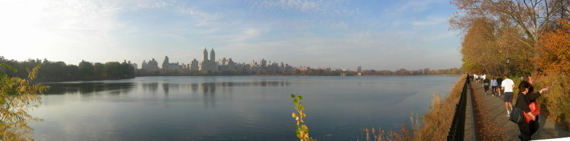 The reservoir in Central Park